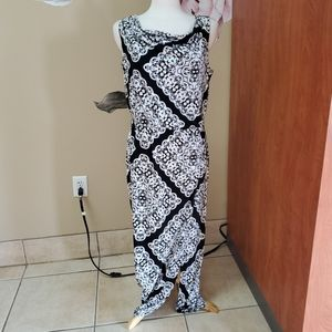 Black Label by Chicos Black and White Dress
